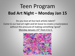 teen program bad art night