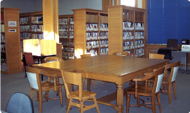 Upstairs reference and study area