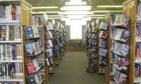 Upstairs Fiction and Non-Fiction stacks